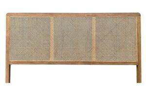 SIT Möbel Bett-Kopfteil | aus Teak und Rattan-Geflecht | natur | B 200 x T 4 x H 120 cm | 07996-59 | Serie ROMANTEAKA