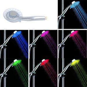 Multicolor LED Duschkopf Sprinkler Handheld 7 Farbe mit 2 verstellbaren Modus