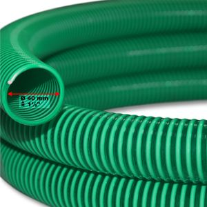 "4.99€/m 5m Saugschlauch Druckschlauch 40mm (1 1/2"") flexibel Saugschlauch Wasser"