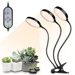 USB Plant Grow Light 234 LEDs Sonnenlicht Vollspektrum Einstellbare Desktop Clamp Growing Lampe fuer Zimmerpflanzen 5 Dimmbare Stufen 4/8 / 12H Timer