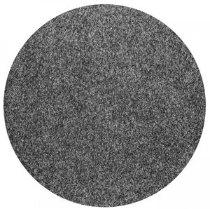 Rasenteppich Kunstrasen mit Noppen (1.550 g/m²) rund, Farbe:Anthrazit, Größe:200 cm rund