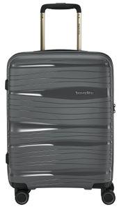 Travelite Motion 4-Rollen 4-Rad Boardcase Kabinen Handgepäck Trolley 55 cm, Farbe:Anthrazit