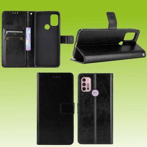 Motorola Moto G30 / G10 Handy Tasche Wallet Premium Schwarz Schutz Hülle Case Cover Etuis Neu Zubehör
