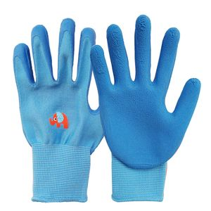 8-13 Jahre Kinder Kinder Schutzhandschuhe Garden Anti Bite Cut Sammeln Sie Muschelschutz-Blau