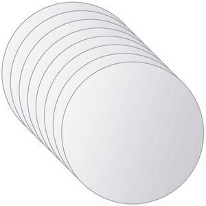 NEU® 16-tlg. Spiegelfliesen-Set Wandspiegel Dekospiegel Rund Glas