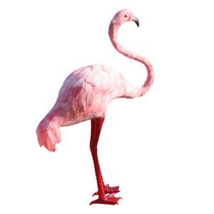 Rasen Deko Flamingo Figur, Garten Dekoration Farbe Pink nachschlagen