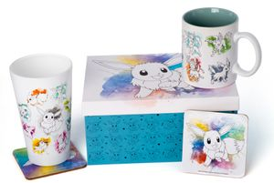Geschenkset Pokémon (Tasse, Glas, 2 Untersetzer) - Eevee