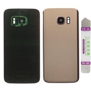 Akkudeckel für Samsung Galaxy S7 G930F mit Kamera Linse Backcover Akkufachdeckel Rückseite Rückschale Gehäuse Gold