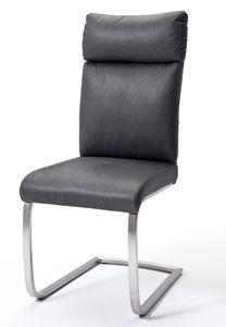 2Er-Set Stuhl Rabea  Freischwinger Grau
