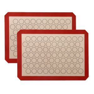 CANDeal Backmatte für Macarons aus Silikon, 2 Stück