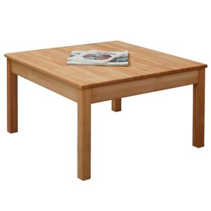 Krok Wood Couchtisch Tomas aus Massivholz in Buche 75x75x45 cm