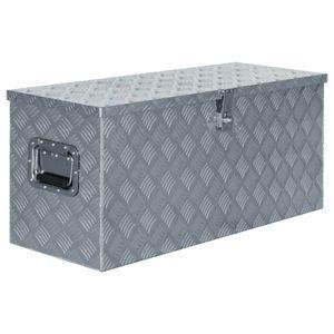 [TOP] Aluminiumkiste,Transportkiste,Werkzeugbox,Transportbox, Zeitgemäßem Design 90,5×35×40 cm Silbern Größe:90,5 x 35 cm*Direkt vom Herstelle