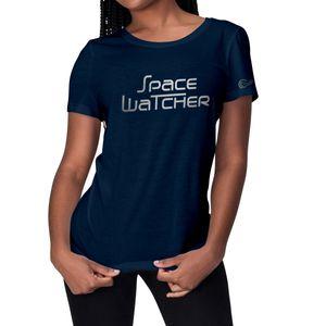 Reflektierendes SpaceWatcher T-Shirt für Herren und Damen aus der REFLECTION SERIES, 100% Baumwolle, Farbe: Dunkelblau, Größe: S