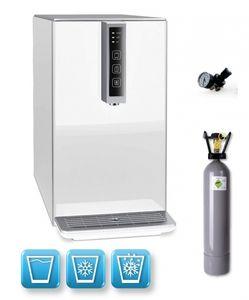 Auftisch-Tafelwasseranlage BLACK & WHITE COLD DIAMOND (Option CO2 Eigentumsflasche: 6kg CO2 Flasche / Farbe: weiß)