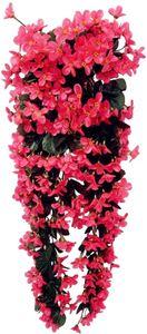 4petals Künstlich hängende Blumen, Blauregen Hängende Kunstblumen für Hochzeit Haus Dekoration (Rose Rot)