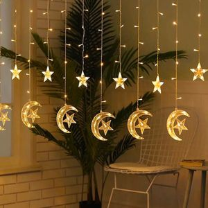 Led Lichtschnur Ramadan Festival Bright Stars Vorhang Lichter dekorativ