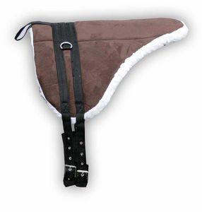 AMKA Shetty Pony Reitkissen mit Sattelgurt  Bareback Pad  Pony Reitkissen braun