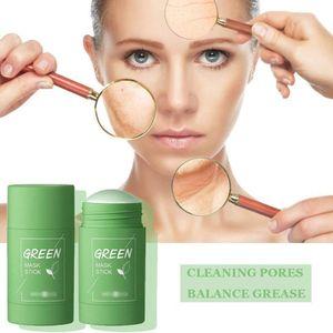 Grüner Tee Purifying Clay Stick Mask Ölkontrolle Gesichtsmaske, Stick Deep Cleansing Anti-Akne-Maske Fine Solid Mask Green Tea, Akne Cleansing Solid Mask