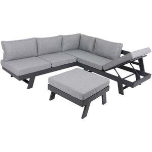 Alu Lounge Set 3tlg. Sitzgruppe Sitzgarnitur Gartengarnitur Möbel Garten Sofa