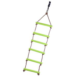Kinder Strickleiter Kletterleiter Seilleiter aus 6 Kunststoffsprosse & Grün wie beschrieben