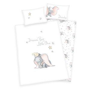 DisneyŽs Dumbo Bettwäsche /  Babybettwäsche / Kleinkinderbettwäsche, 100% Baumwolle ( Renforcé ), 40x60 + 100x135 cm