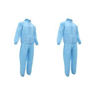 2x Arbeitsoverall Schutzanzug Schutzkleidung mit Kapuze für Industrie Werkstatt