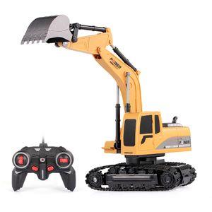 1/24 RC-Bagger RC Car Construction Traktor Metallschaufel Kinder Spielzeug mit Lichtern & Sounds