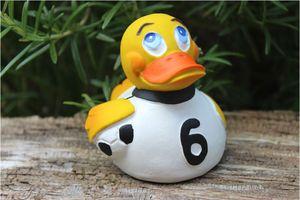 Lanco Ducks Badeente Quietscheente Fußball Duck