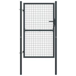 vidaXL Mesh-Gartentor Verzinkter Stahl 100 x 250 cm Grau