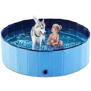 PVC faltbar Pet Bad Pool Faltbar Hund Pool Pet Baden Badewanne für Hund Katze 60*20cm Blau