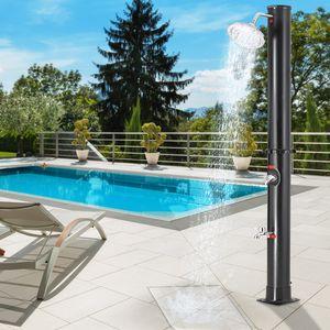Solardusche 20 Liter 60°C 215cm UV - beständiger Kunststoff Gartendusche Pooldusche Dusche Außendusche Campingdusche Regendusche