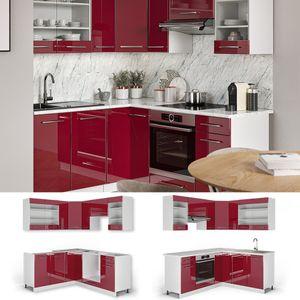 Vicco Eckküche Küchenzeile Küchenblock 160x180cm Fame-Line Winkelküche Hochglanz