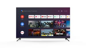 CHiQ 4K Ultra HD LED 108cm (43 Zoll) U43H7S Android Smart TV, Triple Tuner, HDR