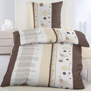 4 tlg Baumwolle Biber Flanell Winter Bettwäsche 135x200 + 80x80 Kissenbezug Warm, Design - Motiv:Design 2