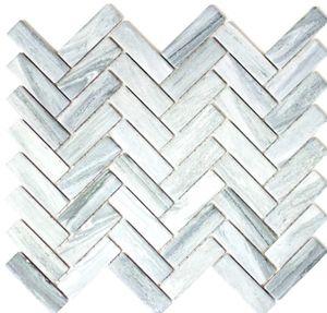 Mosaik Fliese Keramik Fischgrät Steinoptik grau Duschrückwand Fliesenspiegel  MOS24-SO32