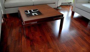 Design Couchtisch Tisch Carl Svensson K-222 Nussbaum / Walnuss Chrom