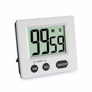 Küchentimer, großer LCD-Display, digitaler Küchen-Timer, magnetische Stoppuhr, Timer mit lautem Alarm, Countdown-Uhr