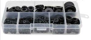 Schwarz 500 tlg Gummischeiben Gummi Gummiunterlegscheiben M2 M2.5 M3 M4 M5 M6 M8 M10