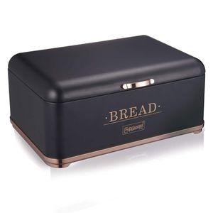 Brotkasten Brotbehälter Frischhaltebox Brotbox Feel Maestro Brotkästen BREAD schwarz/rosagold