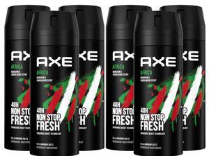 AXE Bodyspray Africa 6x 150ml Deospray Deodorant Männerdeo Deo für Herren Männer Men ohne Aluminium