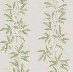 Glitzertapete Blumentapete Rasch Floral Glitzer Vliestapete Grün weiss beige