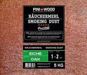 PINI 5 Kg Räuchermehl Eiche 1-2 mm Smoking Dust Räucherspäne