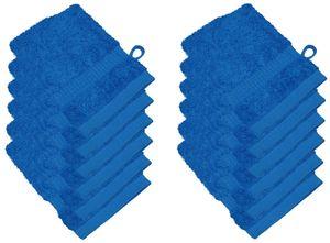 12er Pack Waschhandschuhe 15 x 21 cm, Farbauswahl:Royalblau
