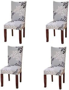 4 Stück Stretch Stuhlhusse 4er Set Universal Stuhlüberzüge Schwingstuhl bezug Freischwinger Hussen für Haus Esszimmer Hochzeit Bouquet, Hotel, Restaurant Nachbildung