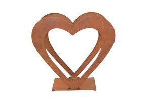 Holzregal aus Eisen Herz
