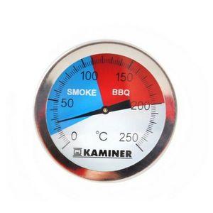 Grillthermometer Analog Bimetall Edelstahl bis 300°C Grill Smoker BBQ Räuchern  1881