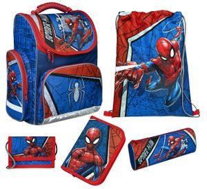 Spiderman Schulranzen-Set 5tlg. Scooli EXPORT Ranzen 1. Klasse Blau