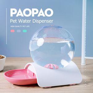 2.8L Bubble Shape Automatische Wasserspender Feeder Katzenhund Trinkschüssel Automatic Feeder Hundenäpfe -rosa