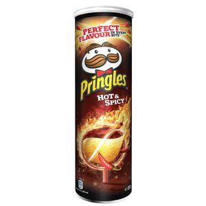 Pringles Hot and Spicy Stapelchips mit scharf würzigem Geschmack 200g