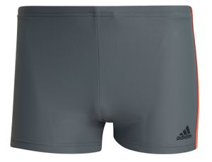 adidas Performance Herren Badehose fitness 3-Stripes swim boxer grau rot, Größe:8